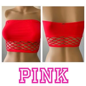 🌟NWT🌟PINK Bandeau Red Size Med